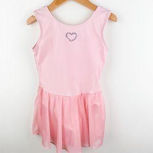Girls Ballet Leotard w/Skirt Pink Small (5/6)